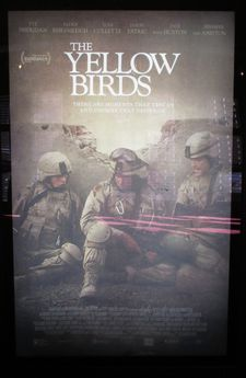 The Yellow Birds poster at the Village East Cinema in New York
