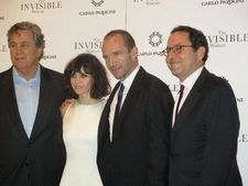 Tom Bernard, Felicity Jones, Ralph Fiennes and Michael Barker at MoMA for The Invisible Woman première