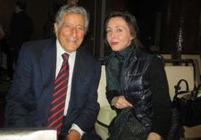 "Tony Bennett with two-time First Time Fest juror Anne-Katrin Titze: ""I was taking classes about how good this film was or that film."""