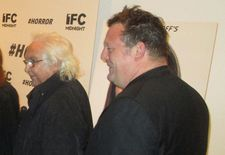 Tony Shafrazi and Urs Fischer share a laugh at the #Horror premiere