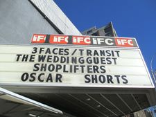 Transit on the IFC Center marquee