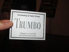 Trumbo screening and party ticket