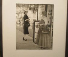 "Two women - Vivian Maier: ""This happens to be a vintage print. Vivian printed this."""
