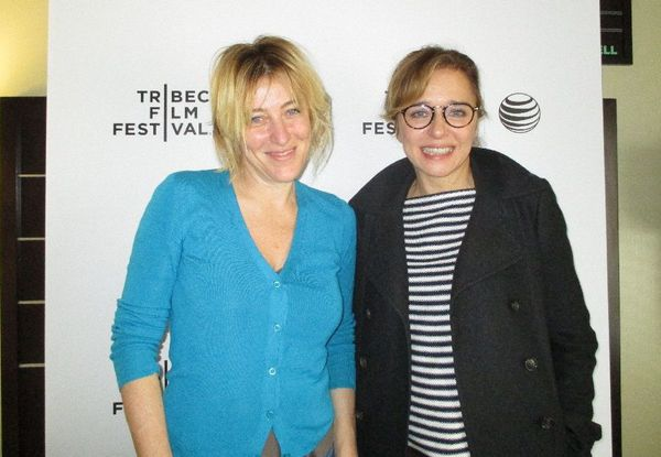 Valeria Bruni Tedeschi and Valeria Golino at the Tribeca Film Festival for Paolo Virzì's Human Capital (Il Capitale Umano)