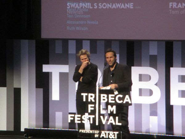 Willem Dafoe and Alessandro Nivola on the Tribeca International Narrative jury with Peter Fonda, Tavi Gevinson, and Ruth Wilson