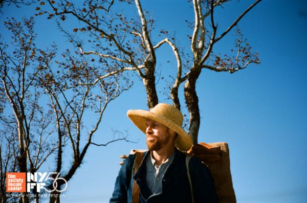 Willem Dafoe as Vincent van Gogh in Julian Schnabel's At Eternity's Gate, shot by Benoît Delhomme