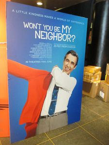 "Won't You Be My Neighbor? poster in New York ""A little kindness makes a world of difference."""