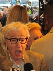Woody Allen and Jacki Weaver's eyes at his Magic In The Moonlight world premiere.