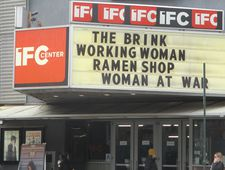 Working Woman on the IFC Center marquee