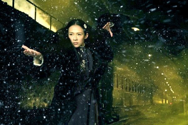 Ziyi Zhang as Gong Er in Wong Kar Wai's The Grandmaster -  a martial arts Anna Karenina with fur cuffs.