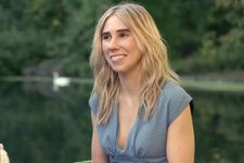 Diana (Zosia Mamet) with mute swan on Boathouse pond in Prospect Park