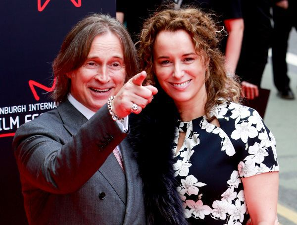 Robert Carlyle and his wife Anastasia on the red carpet for The Legend Of Barney Thompson world premiere.