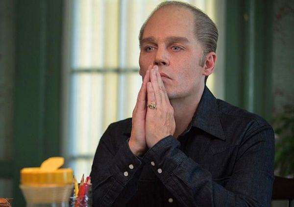 "Johnny Depp as  Jimmy ""Whitey"" Bulger in Black Mass -"