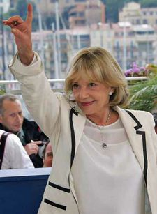 Jeanne Moreau at the Cannes Film Festival in 2005