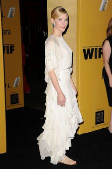 Cate Blanchett has often opted for flats.