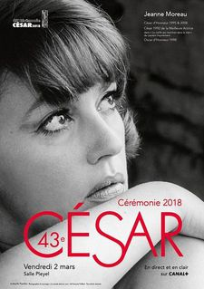 Jeanne Moreau on the poster for this year's César ceremony