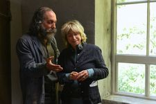 Guillaume Gallienne as the older Cézanne with director Danièle Thompson: 'It was a journey of discovery: I had no idea that Cézanne originally wanted to be a writer and Zola wanted to be a painter'