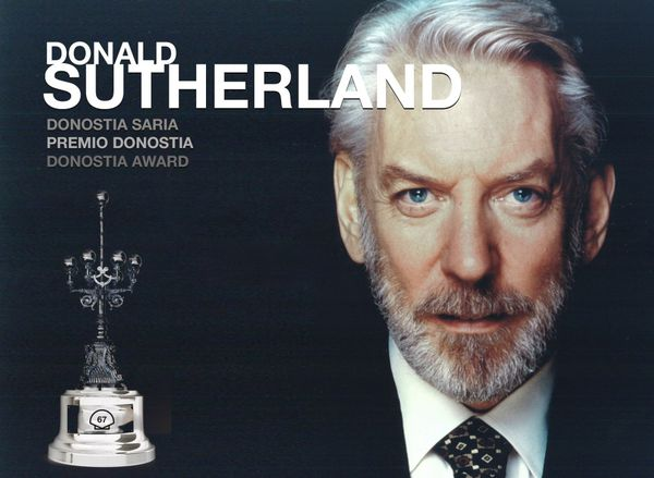 Donald Sutherland will receive the Donostia Award on September 26