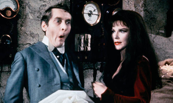 Fenella Fielding with sometime rival Kenneth Williams in Carry On Screaming
