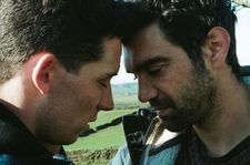 Johnny and Gheorghe, played by Josh O'Connor and Alec Secareanu, in God's Own Country