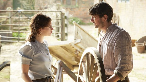 Lily James and Michiel Huisman in The Guernsey Literary And Potato Peel Pie Society. Mike Newell on working with Netflix: 'It's weird because they are tremendously welcoming, tremendously helpful'