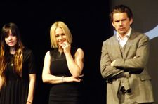 Lorelei Linklater, Patricia Arquette, Ethan Hawke at the premiere of Boyhood at Sundance Film Festival