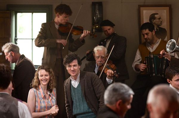 "Barry Ward and Simone Kirby in Jimmy's Hall: ""Ken Loach gives voice with eloquence to the disenfranchised and celebrates the spirit of working people."""