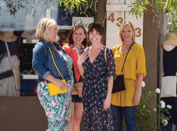 "Bridget Everett, Molly Shannon, Katie Aselton and Toni Collette in  Fun Mom Dinner - Four women, whose kids attend the same preschool class, get together for a ""fun mom dinner."" When the night takes an unexpected turn, these unlikely new friends realise they have more in common than just marriage and motherhood. Together, they reclaim a piece of the women they used to be."