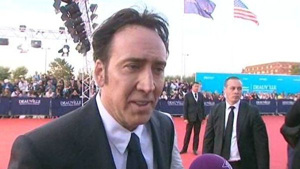 Nicolas Cage walks the Deauville red carpet for the gala screening of his new film Joe