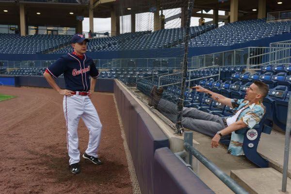Hopper Jr. (Johnny Simmons) , Hopper Sr. (Ethan Hawke). After serving time in prison, Hopper Sr. makes an unsolicited visit to his son offering his theory on why young Hopper is having difficulty on the pitcher's mound.