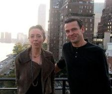 Anne-Katrin Titze's rooftop interview with Christian Petzold, with the UN in the background, overlooking the East River