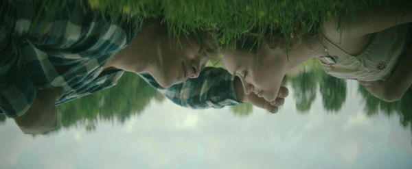Brenton Thwaites and Olivia Cooke in The Signal