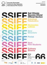 San Sebastian main poster image for 66th edition - photo by Courtesy of San Sebastian Film Festival