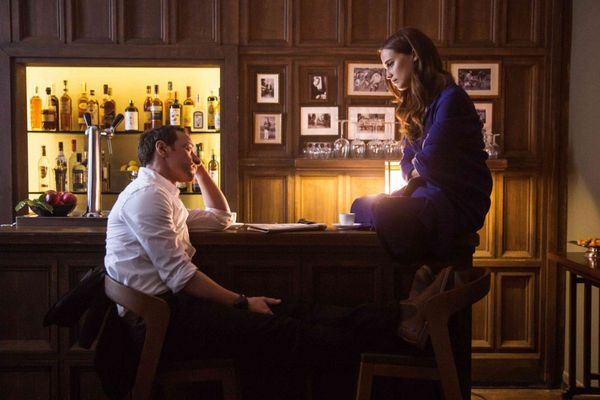 James McAvoy and Alicia Vikander in Submergence.