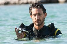 Pierre Niney as Cousteau's son Philippe. 'He had to go bulk up in the gym'