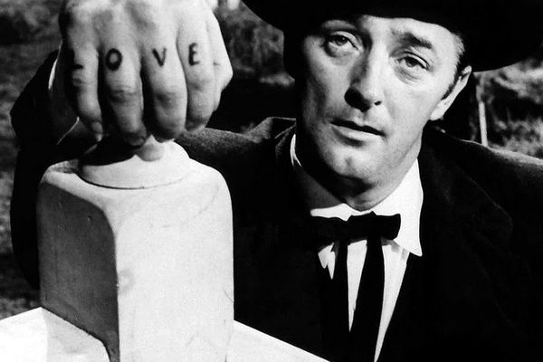 Robert Mitchum in The Night Of The Hunter