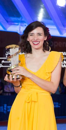 Lila Avilés with her Jury Prize in Marrakech