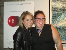 Katie Couric and Maggie Valentine, who is featured in Fed Up: