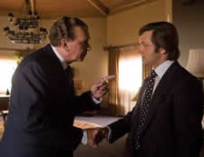 Frank Langella as Richard Nixon and Michael Sheen as David Frost