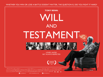 Tony Benn: Will And Testament packshot